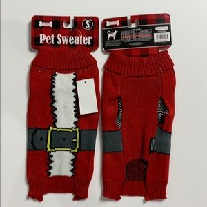 WOOF Dog Pet Christmas Sweater Sz S or M